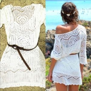 Other - 🎉HP🎊white crochet beach coverup 👙
